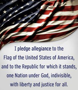 Wording of the pledge of allegiance
