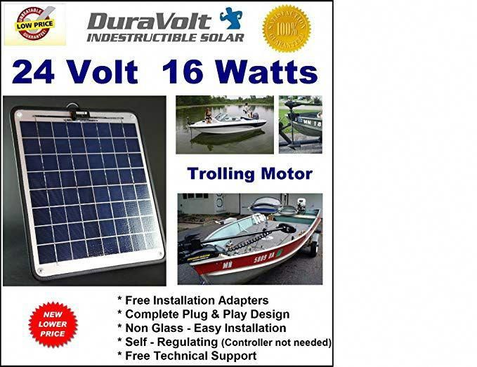 Now 20 Watts Trolling Motor 24v Battery Charger 1 2 Amp Trickle Solar Charger Self Regulating Boat Marine Sol Solar Panel Installation Solar Solar Panels