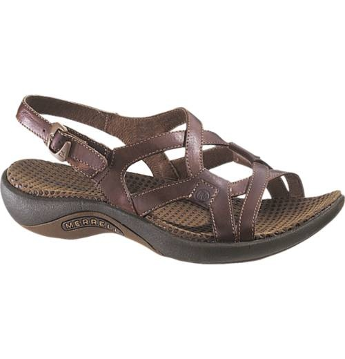 I bought these for my trip as dressy sandals.  Tried them out with some dresses and they look good.  Plus, they have an air cushion in the heel, which makes them more stable.  Women's Merrell Agave Casual Sandals - Merrell.com
