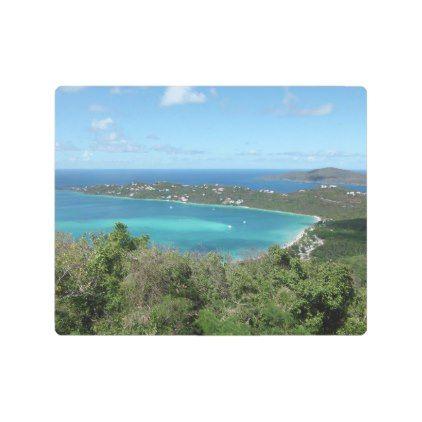 Beautiful Tropical Beach Caribbean Paradise Photo Metal Print | Zazzle.com