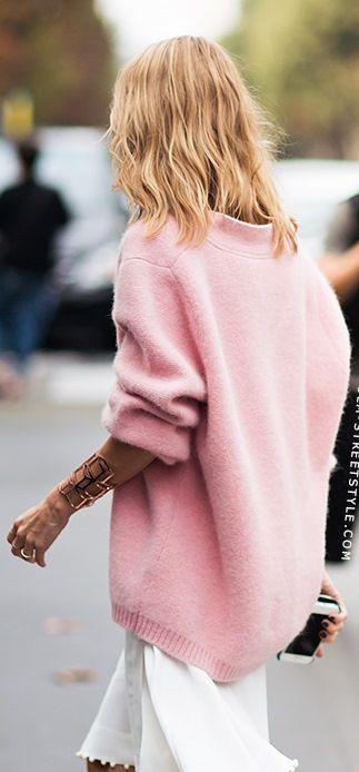 pretty in pink big sweaters