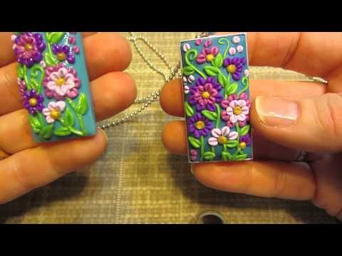 Polymer Clay Tutorial | Modellazione di Fiorellini e Foglioline | Fluo Colors | Applique - YouTube