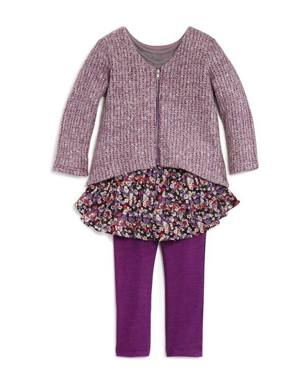 Pippa & Julie Girls' 3-Piece Sweater Set - Sizes 2-6X