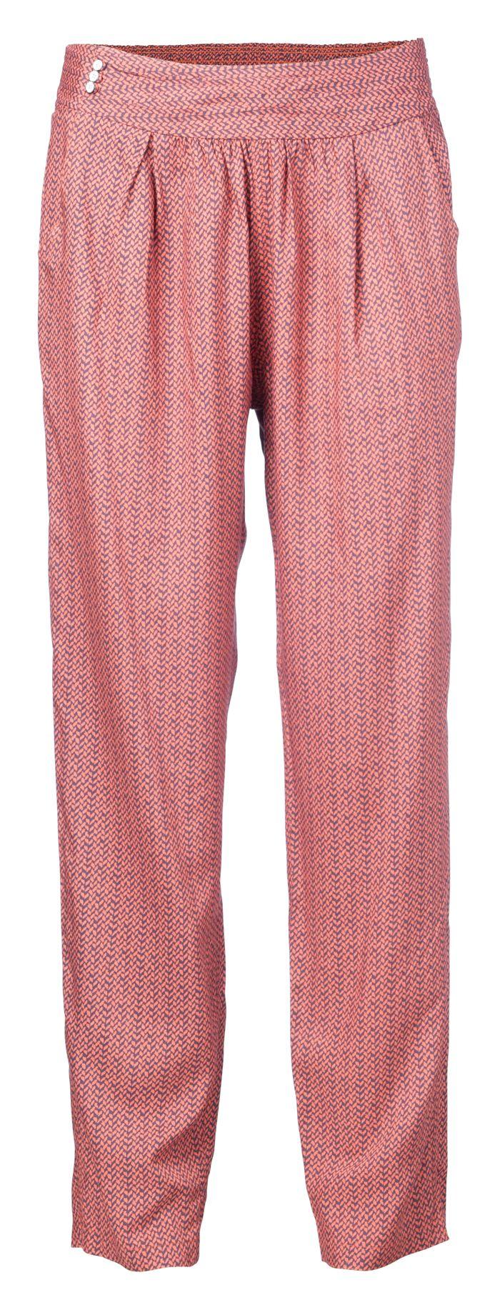 Ya Ya Gathered Trousers - Tawny Orange Dessin