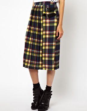 Image 4 - ASOS - Jupe mi-longue façon kilt avec imprimé à carreaux écossais