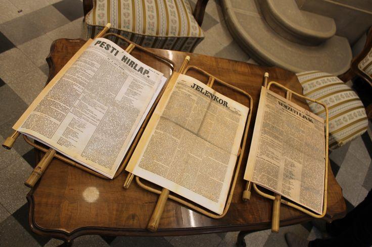 Az 1848 márciusi napilapok másolatait bárki elolvashatta