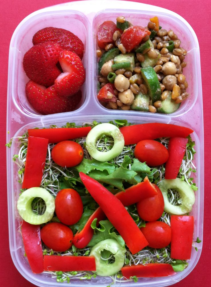 Mickey, Minnie, summer grain salad and a mixed green lunch ...
