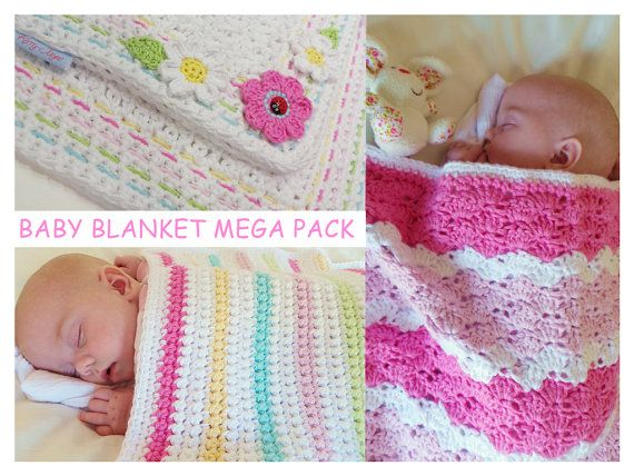Hey, I found this really awesome Etsy listing at https://www.etsy.com/listing/210826390/3-baby-crochet-blanket-pattern-mega-pack