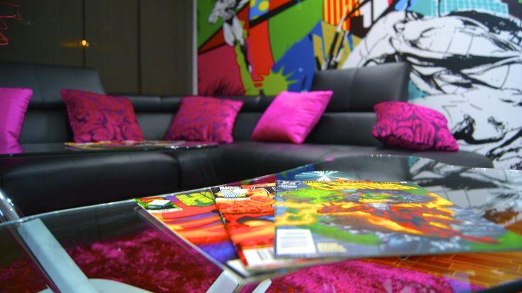 los Comics y el arte pop se viven en el hotel comic city @hotel_comicity