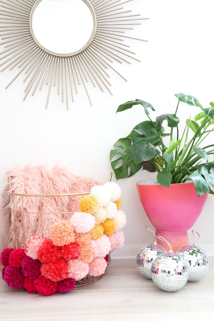 Looking for a fun storage idea in your home? We love this Pom Pom basket that @abeautifulmess_created. Learn how to make this idea in just a few steps.