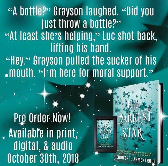 The Darkest Star By Jennifer L Armentrout Book Teaser Dark Star Lux Series