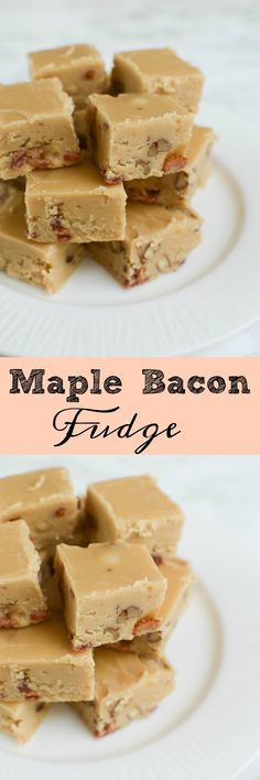 Maple Bacon Fudge - you have to make this at Christmas! The sweet and salty combo is perfect!