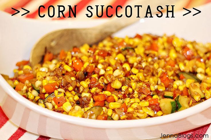 Corn Succotash |  (Serves 4) 6-8 ears of fresh yellow corn, 1 small yellow onion, diced 3 cloves of garlic, minced, 1 small zucchini, diced, 1 red bell pepper, diced, 1.5 Tablespoons butter, divided, 1.5 Tablespoons EVOO, divided, Salt and Pepper