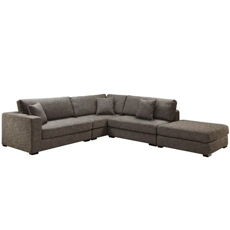 Aspect Modular 2 Seat Left Hand, 2 Seat Right Hand, 2 Seat A/L & Ottoman | Freedom Furniture and Homewares