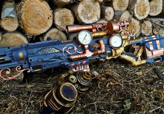 Nerf guns and steampunk: 2 great tastes that go great together!