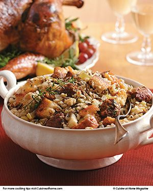 Sausage & Wild Rice Dressing - And this will probably be a new recipe tried on Thanksgiving, but I think I will add either an apple or some dried cranberries.  (or BOTH!)
