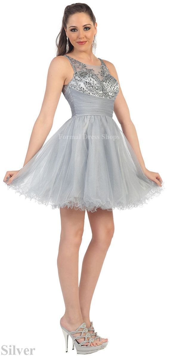 Short Homecoming Dresses Semi Formal Dance Party Sleeveless Graduation Attire