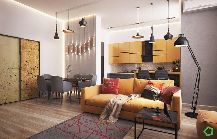 "Apartament ""Yellow"" on Behance"