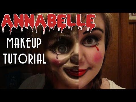 ANNABELLE MAKEUP TUTORIAL -- 13 Days of Halloween 2014 -- Day 1 - YouTube