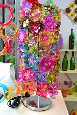 pet flowers lampshade