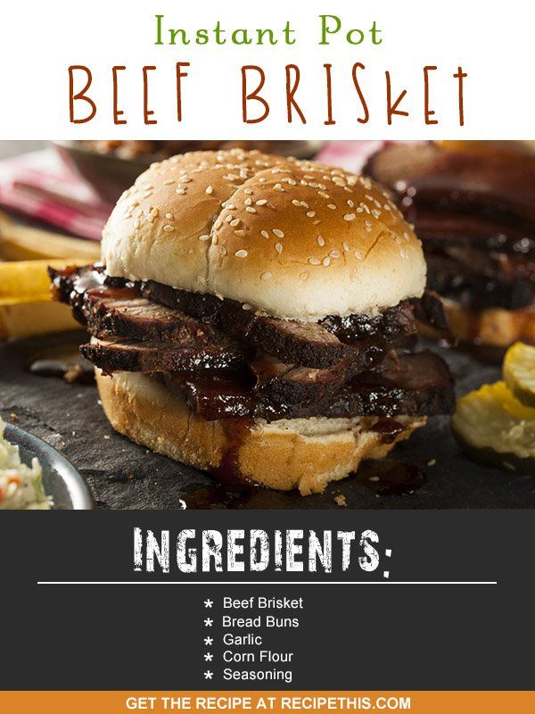 Instant Pot Beef Brisket for me shouts out the best ever sandwiches. Not only is the beef brisket so tender thanks to the Instant Pot Pressure Cooker, but they are crispy too and perfect in a big bread bun, with a delicious beef sauce made from the leftov