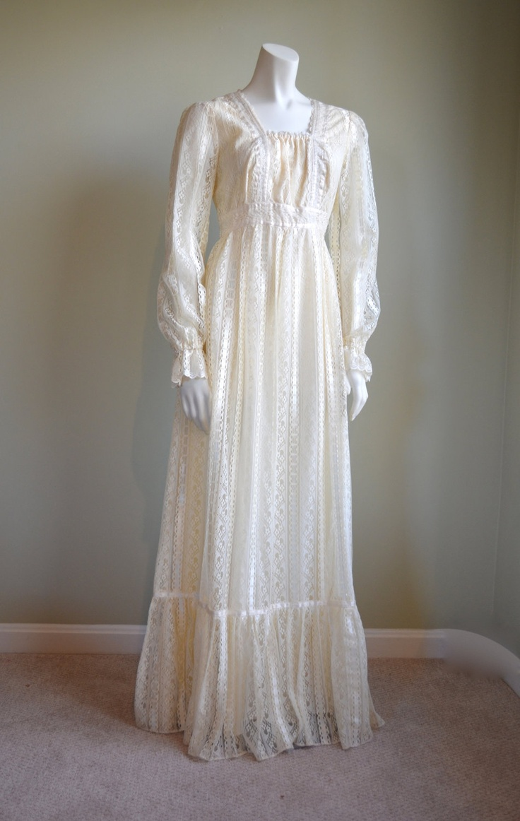 91 best images about fashion 1970 39 s gunne sax on pinterest for 1970 s style wedding dresses