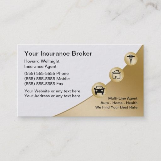 Insurance Broker Business Cards Zazzle Com