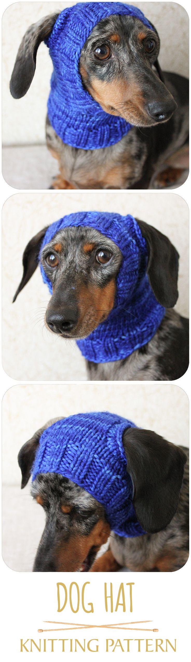 KNITTING PATTERN, Mini Dachshund Dog Hat, Small Dog Hat