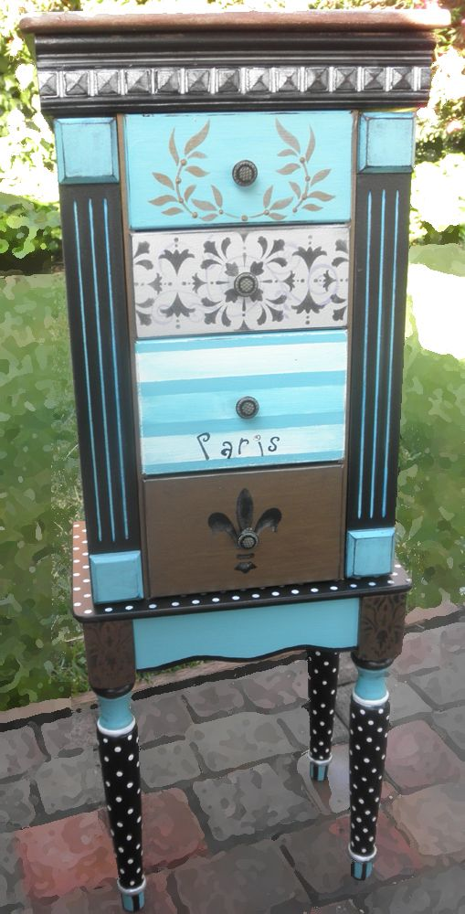 Jewelry Armoire for all of your jewelry, hand painted by accentbydesign