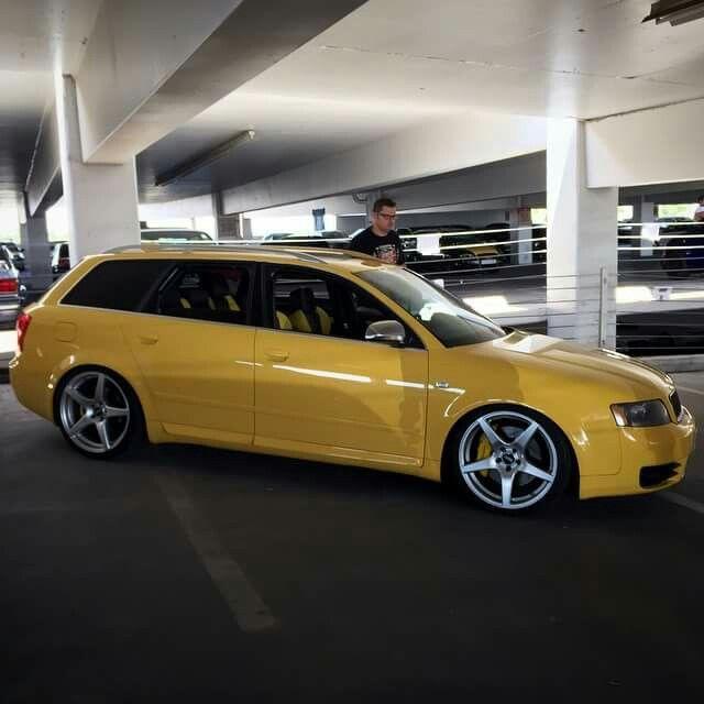 B6 s4 Imola yellow. Notice the rare matching interior