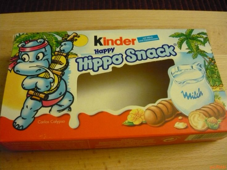 No. 185 | víziló | hippo | doboz | box | Kinder Hippo Snack
