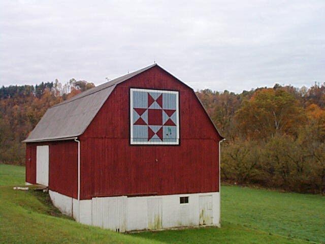 Ohio Star Barn Quilt | Barns | Pinterest
