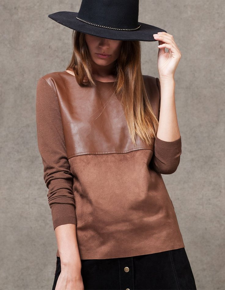 Sweter z domieszką trykotu