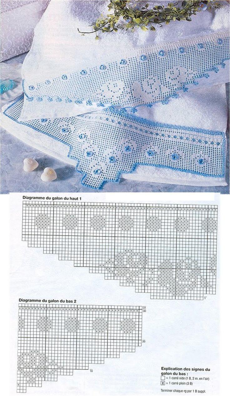 MIRIA CROCHÊS E PINTURAS: BARRADOS DE CROCHÊ COM ROSAS N°145