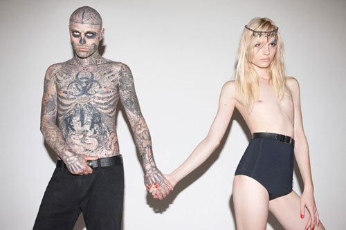 Love this photo of Rick Genest and Andrej Pejic.