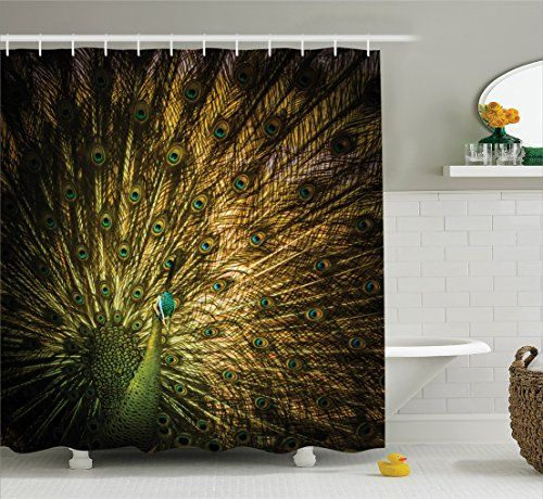 Peacock Decor Shower Curtain Set By Ambesonne Portrait O Amazon Dp B01JPCUBAC Refcm Sw R Pi X ApPczbNHT2BWH