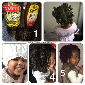 Avocado, honey and olive oil deep conditioner twistout -- perfect for adults, too!