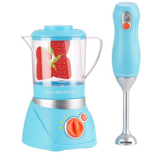 Just Like Home Toy Blender : Just like home blender set blue toys r us quot