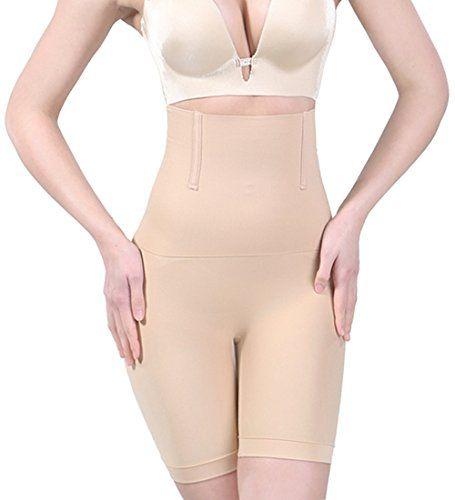 ce6a9263e0b99 Jenbou Women s Hi-Waist Body Shaper Butt Lifter Shapewear Trainer Tummy  Control Panties Seamless Thigh Slimmers Cincher