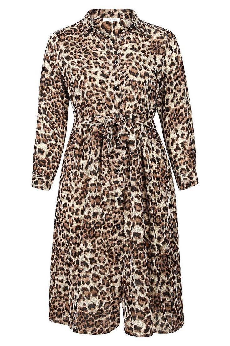 Paprika Maxikleid »Langes Kleid mit Leoparden-Print« für ...