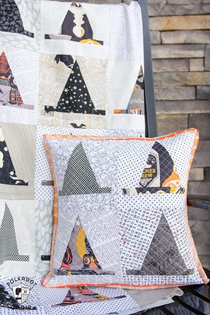 halloween quilt block