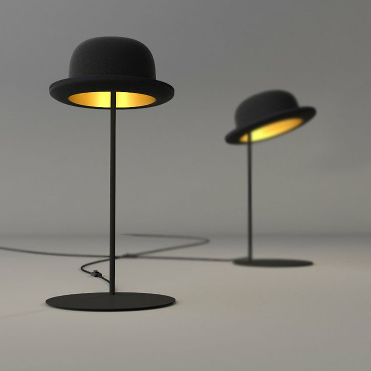 Delightful Jeeves Table Lamps   Classic Bowler Hat Style Shades With Gold Lining. Home Design Ideas