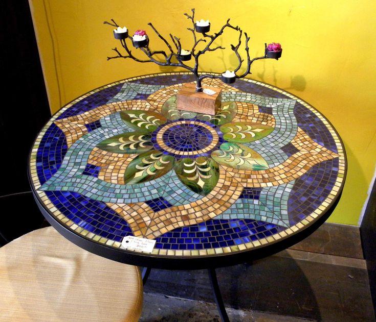 floral mosaic pattern