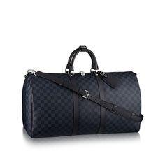 LOUISVUITTON.COM - Louis Vuitton Keepall 55 mit Schulterriemen (LG) DAMIER COBALT Reisegepäck