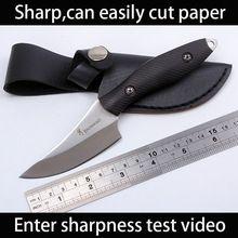 Sharp Браунинг Ручной охотничий нож 7cr13 стали Ebony Деревянной ручкой Отдых На Природе Тактический карманные ножи цавс militar EDC спасательные инструменты(China (Mainland))