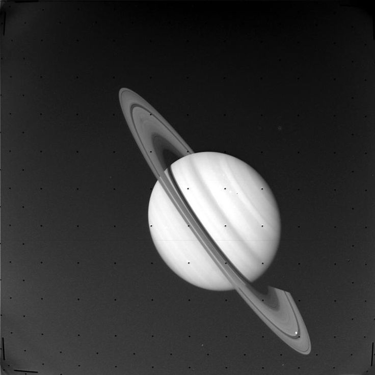 Hello Space — A photo of Saturn. Took by Voyager with VGISS on...