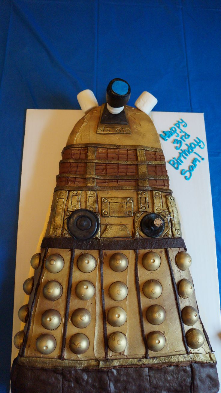 Sam is three and he gets the cake. He probably doesn't even know how to say Doctor Who let alone watch it.