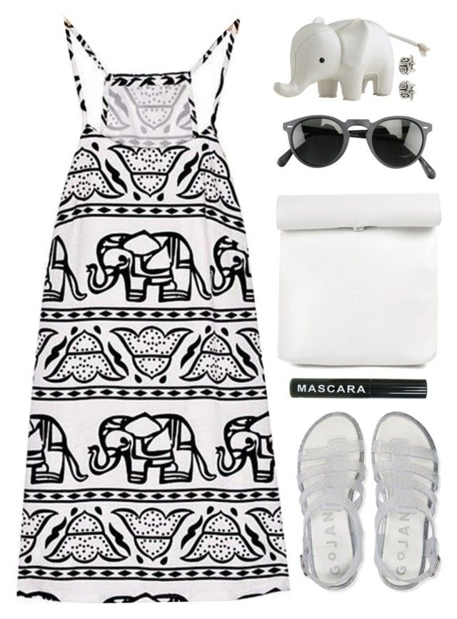 """""""Print"""" by amazing-abby ❤ liked on Polyvore featuring Aéropostale, Accessorize, Serena & Lily and Oliver Peoples"""
