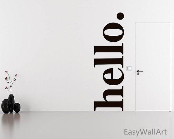 Ciao Wall Decal citazioni Ciao porta adesivi di EasyWallArt