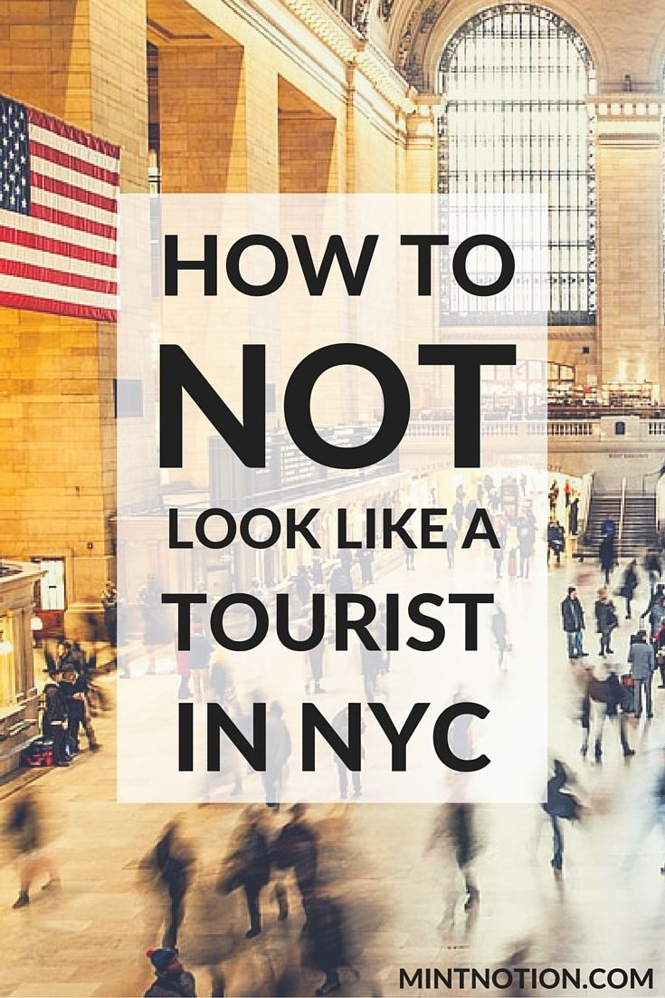 Want to look more like a New Yorker when you visit Manhattan? Check out these 10 ways on how to NOT look like a tourist when you're in New York City.